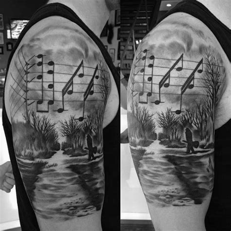 music notes tattoos for men 100 tattoos for manly designs with harmony