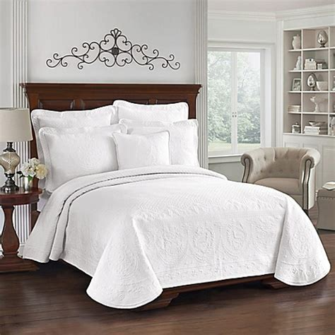 king bed coverlets king charles matelasse coverlet in white bed bath beyond