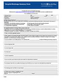 discharge summary template surgery discharge papers fill printable fillable
