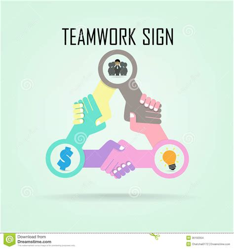 handshake abstract sign vector design template bu stock vector image