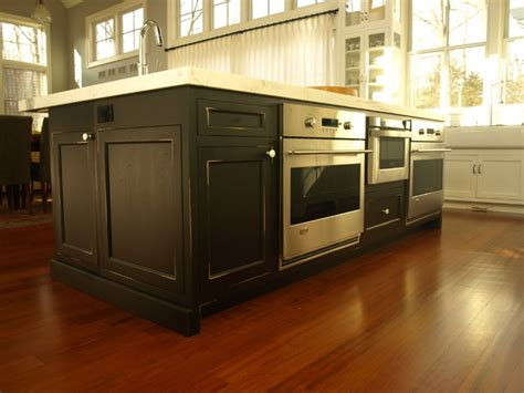 microwave in island in kitchen large working center island with double wall ovens and