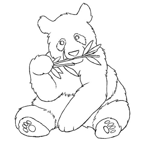 pin giant panda coloring page animals town color sheet on