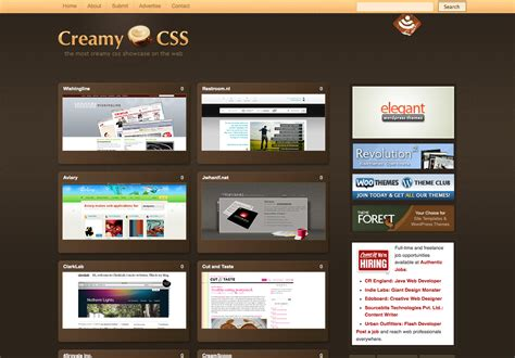 the most beautiful websites creamy css styletheweb com