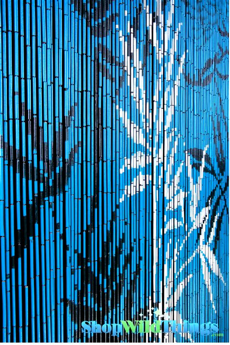 Bamboo Beaded Curtains Blue Beaded Curtain Painted Blue Background Curtain With Bamboo Trees White And Blue