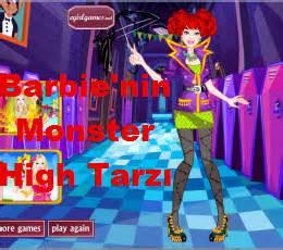 barbie'nin monster high tarzı oyna