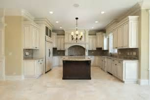 Marble Kitchen Floor Beige Kitchen Floor Tiles And Marble Backsplash Traditional New York By All Marble Tiles
