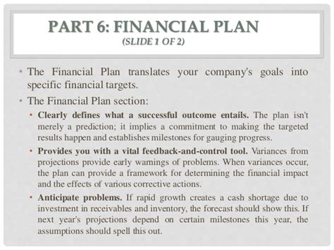 Financial Section Business Plan by Business Plan
