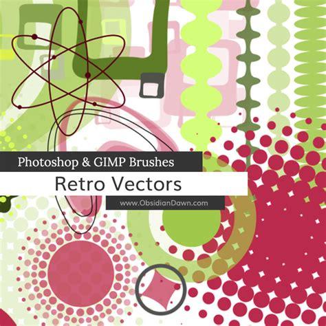 gimp tutorial vector retro vectors photoshop gimp brushes obsidian dawn
