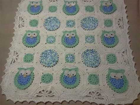 crochet pattern owl baby blanket you have to see owl obsession baby blanket on craftsy