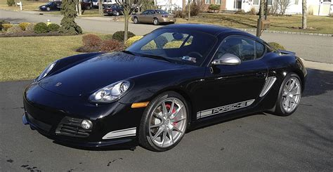 black  porsche cayman  rare cars  sale blograre