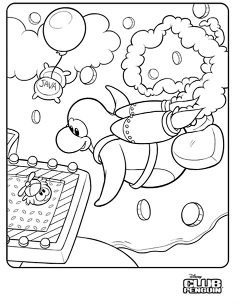 jet pack coloring pages saraapril in club penguin jet pack coloring page
