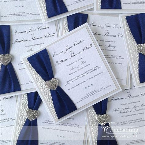 invitation design pinterest cool elegant blue white and silver wedding invitations