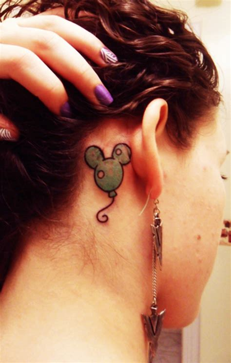 family tattoo behind ear cutest mouse tattoo designs for inspiration sheplanet