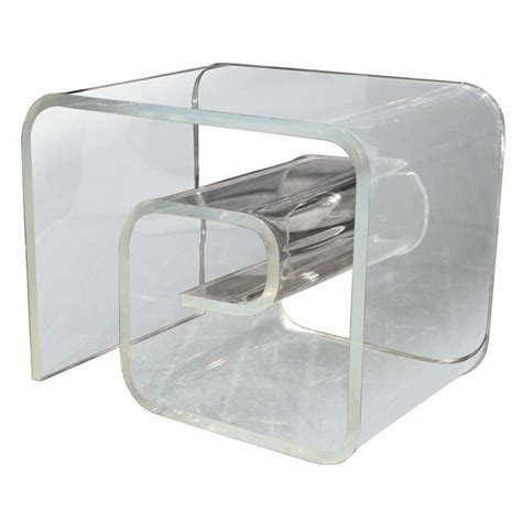 Lucite Side Table Key Style Lucite Side Table At 1stdibs