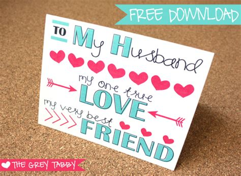 free cards for husband freebie printable card to my husband a note card