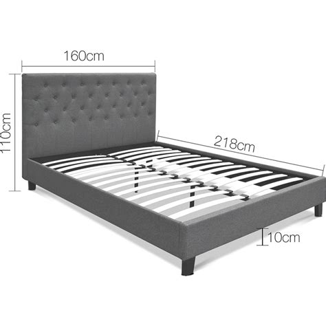 grey tufted bed frame size fabric tufted bed frame in grey buy