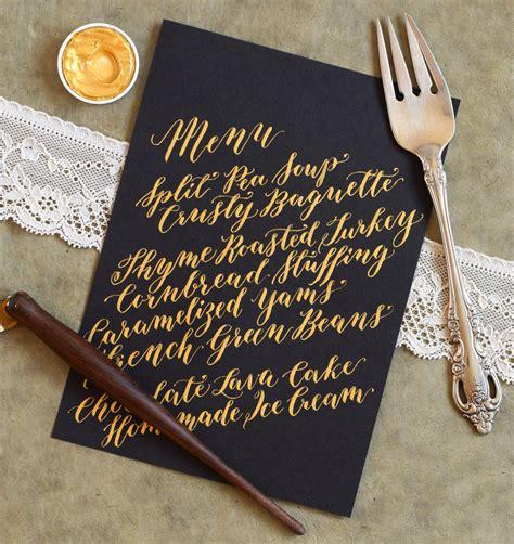 1000 ideas about menu cards on pinterest diy wedding calligraphed diy menu cards tutorial diagonal concept