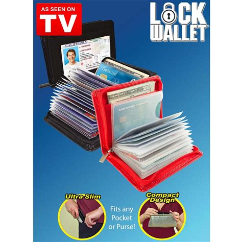 Wallet Dompet Kartu lock wallet dompet kartu kredit secure rfid blocking