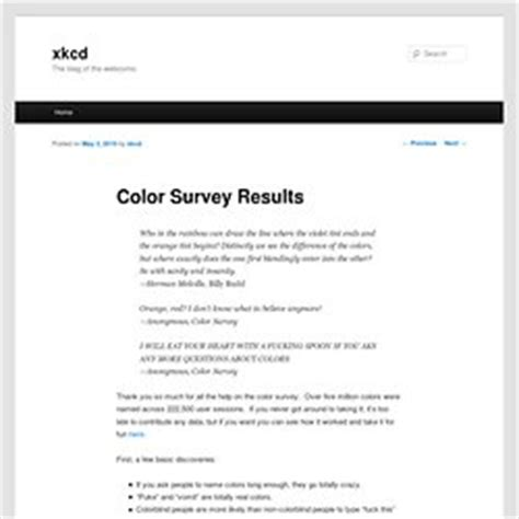 xkcd color survey tests and general pearltrees