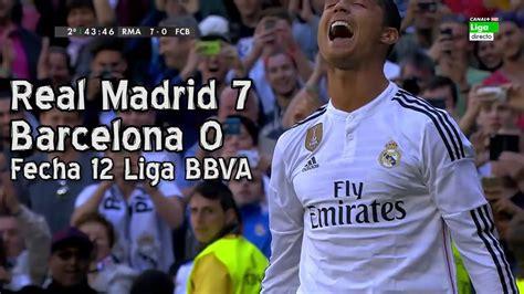 imagenes de real madrid vs barcelona real madrid 7 barcelona 0 liga bbva fecha 12 parodia