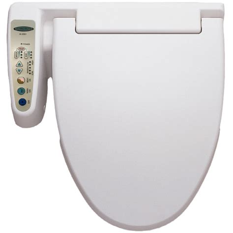 bidet lowes shop hometech white toilet mounted bidet at lowes