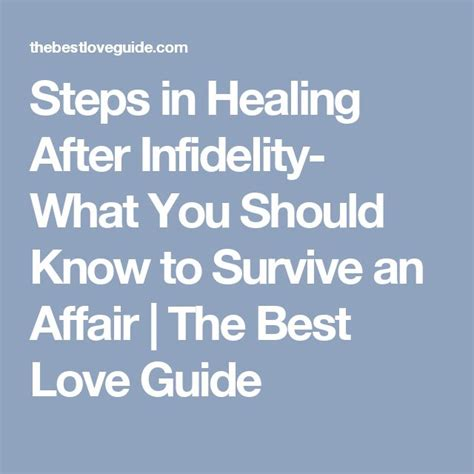 Steps To Mending A Relationship After An Affair by 1000 Ideas About After The Affair On
