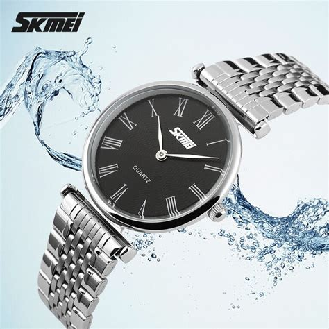Jam Tangan Bandung Wanita Bregenz Stainless Waterrsistant Skmei skmei jam tangan analog wanita 9105cs black