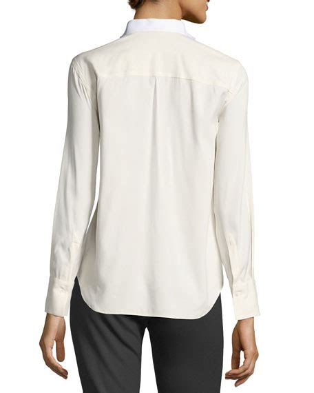 pattern tuxedo shirt brunello cucinelli tuxedo bib smocking shirt white pattern