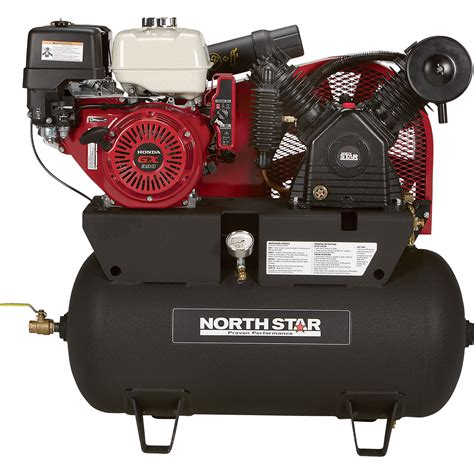 free shipping northstar portable gas powered air compressor honda gx390 ohv engine 30
