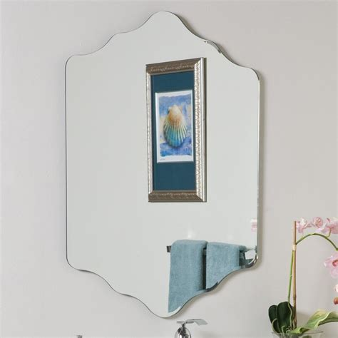 frameless mirror for bathroom shop decor vandam 23 6 in x 31 5 in other