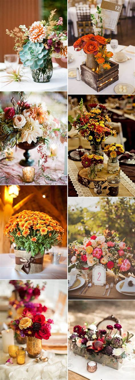 Fall Flower Wedding Centerpieces by 46 Inspirational Fall Autumn Wedding Centerpieces Ideas