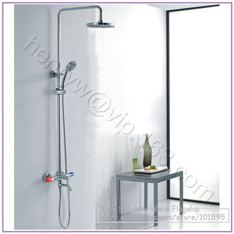 Discount Kitchen Faucets retail luxury high quality brass head rain shower set