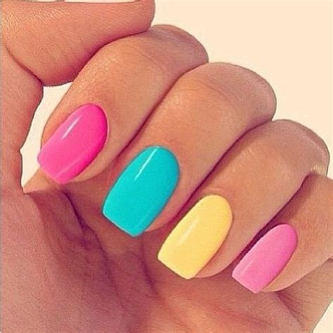 colorful nail colorful pastel nails pictures photos and images for