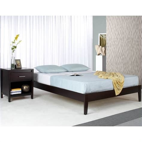Modus Furniture Nevis Simple Platform Bed Espresso 2 Pc Modus Bedroom Furniture