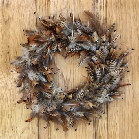 pheasant feather wreath natural feather wreaths