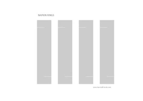 napkin holder template napkin ring template