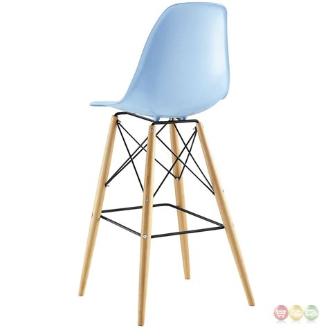 Plastic Bar Stools by Pyramid Modern Molded Plastic Bar Stool With Wood Legs