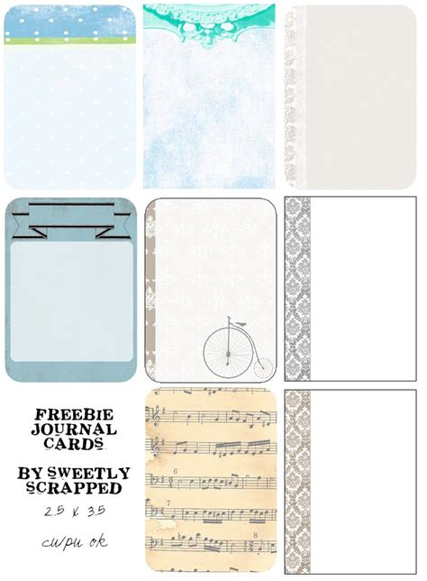 Free Papers For Card - sweetly scrapped free printable papers and journal cards