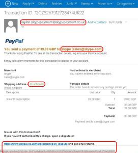 Paypal Credit Letter Alert About Paypal Phishing Scam