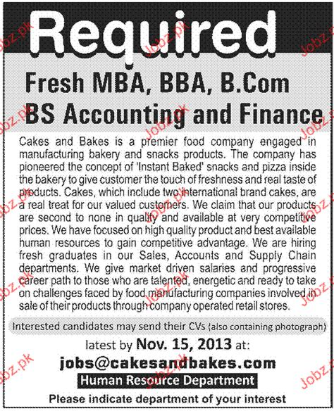 Bba Mba Accounting Pace by Fresh Mba Bba Bcom And Bs Accounting Finance Wanted