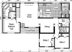 Open Floor Plans For Ranch Homes Davenport Ii Ranch Style Modular Home Pennwest Homes