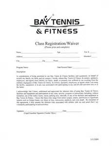 fitness waiver and release form template bay tennis fitness northern michigan s premiere