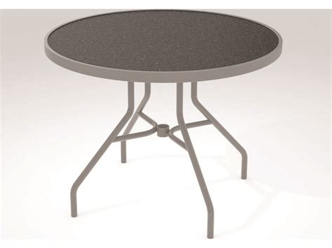 Tropitone Hpl Raduno Aluminum 36 Round Dining Table 670h Tropitone Patio Table
