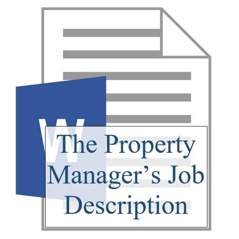property manager description the property manager s description scope of services