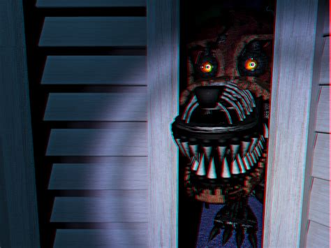 Nightmare In Closet by Nightmare Foxy Closet 3d By Cosmicmoonshine On Deviantart