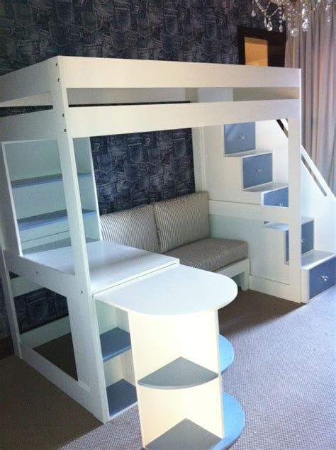 stair loft bed with desk tween loft bed with pullout desk sofa and multi