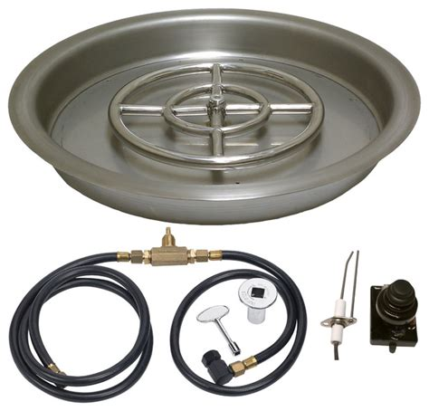 25 Quot Round Drop In With Spark Ignition Propane Firepit Accessories