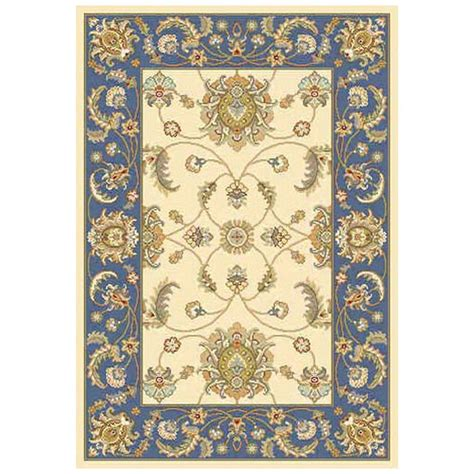 home decorators outdoor rugs home decorators collection versailles beige blue 5 ft 3
