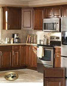 brown kitchen cabinets at the home depot