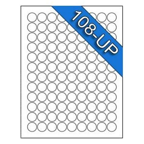 Avery 5408 Template 108 up 3 4 diameter 75 inch avery 5408 compatible circle white labels